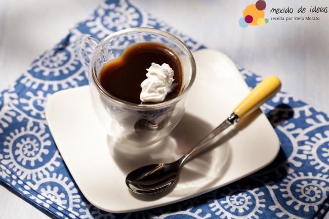 Gelatina de café espresso