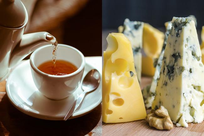 Harmonização entre queijos e chás