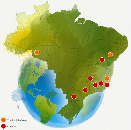 mapabrasilMexido1   As principais regiões produtoras de café do Brasil