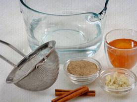 Ingredientes do cappuccino reforçado