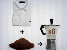 Ingredientes da Receita de como tingir roupa com borra de café