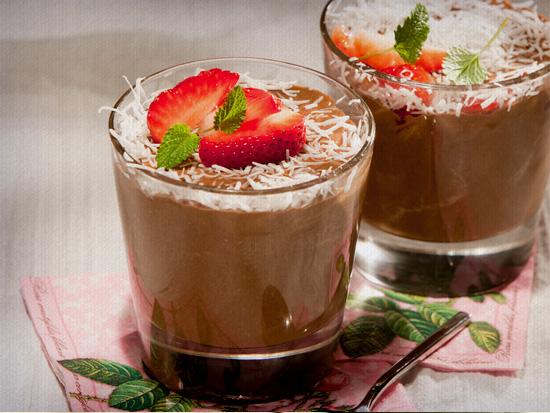 Receita de Creme de café e côco