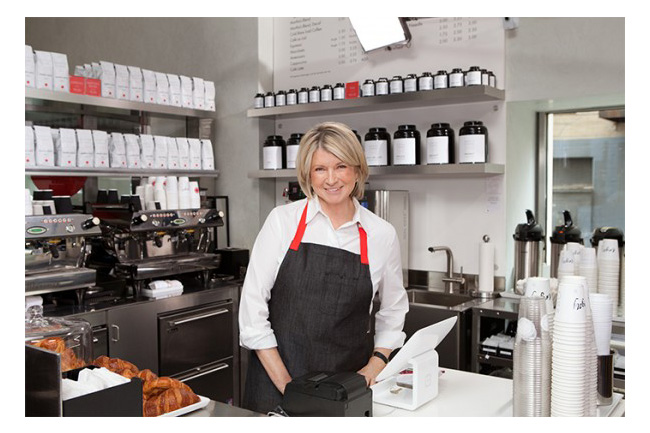 Martha Stewart inaugura cafeteria em Nova York