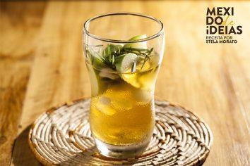 Chá de camomila com maçã verde e alecrim