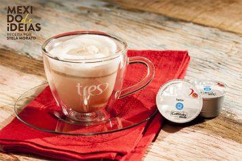 Latte com Chocolatto: Leite vaporizado com chocolate quente