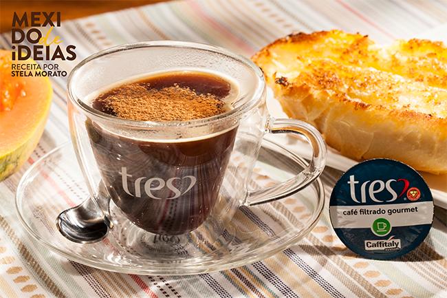 Café filtrado Gourmet TRES® com melado