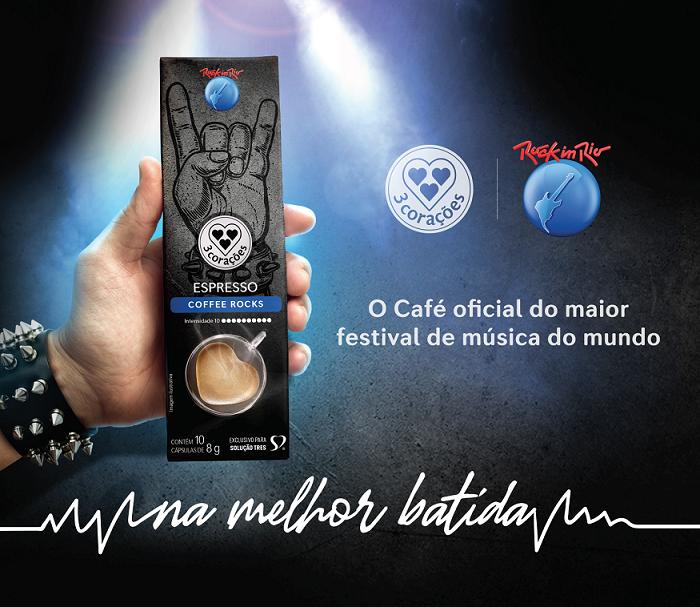 3 Corações é o café oficial do Rock in Rio 2019