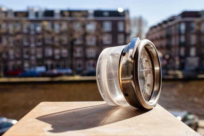Filtros transparentes no preparo de um espresso