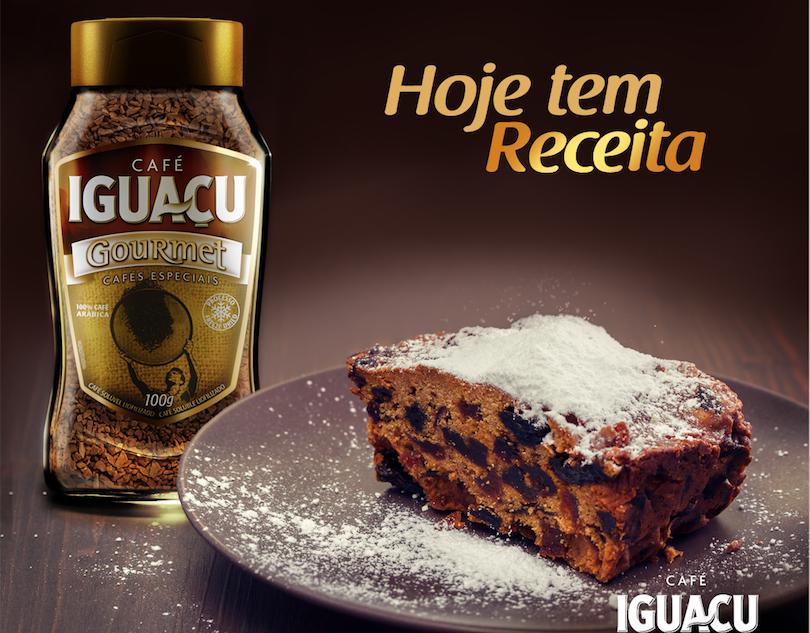 Hoje tem receita: Bolo tipo inglês com café Iguaçu Gourmet