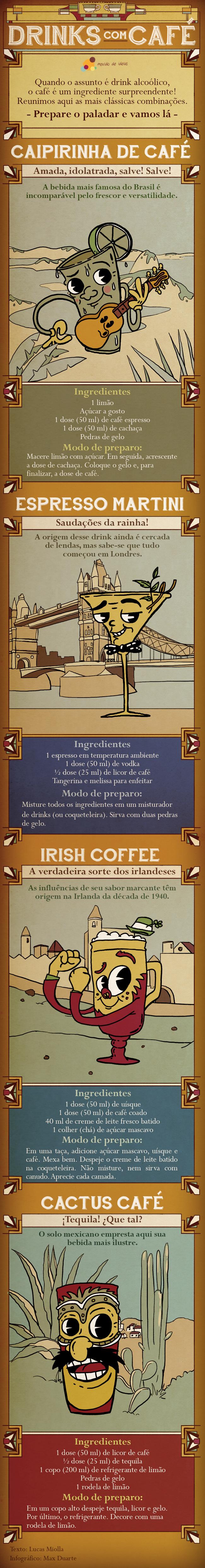 Ensinamos o passo a passo de quatro bebidas de países diferentes: Brasil, Inglaterra, Irlanda e México. Aproveite!