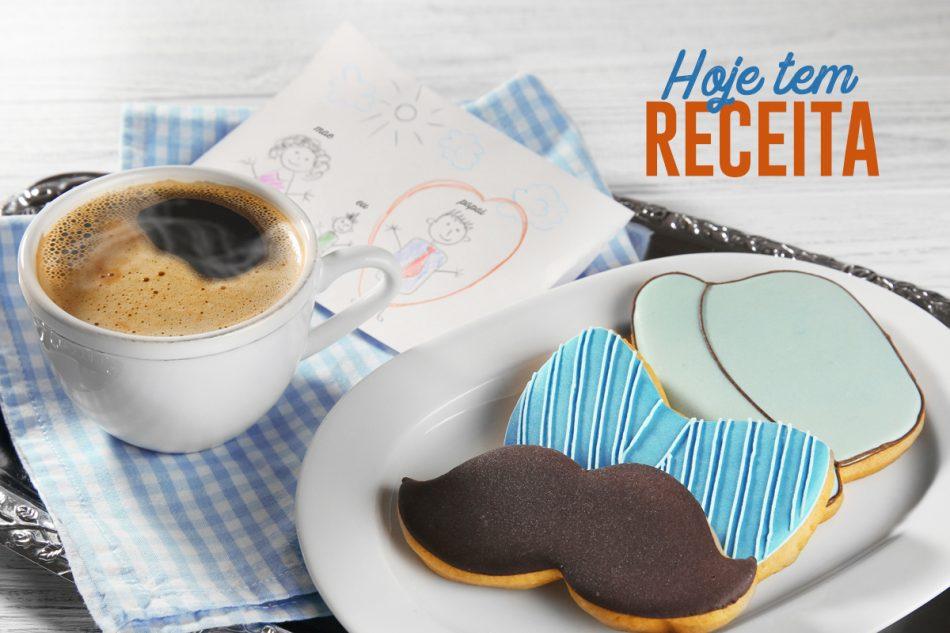 Biscoitos de Café Decorados dia dos Pais